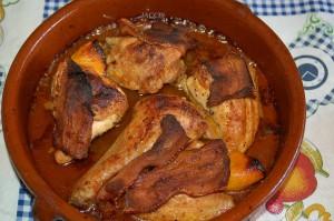 Aspecto del Pollo en la Cazuela